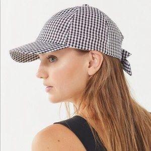 Urban Outfitters Pink Seersucker Hat